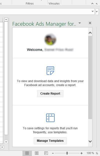 Crear reporte en el Administrador de Facebook Ads para Excel