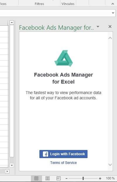 Administrador de Facebook Ads para Excel